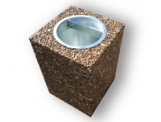 """Урны для мусора - """"Куб""""  (28 л.)"""