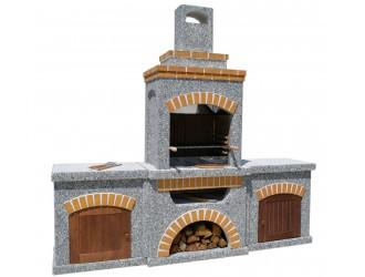 """Камины барбекю и печи - """"Манчестер"""" с двумя столами и фасадом"""