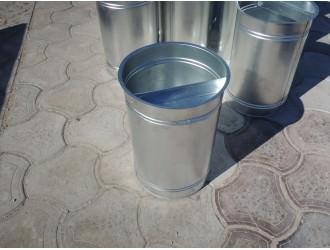 Урны для мусора - Оцинкованное ведро для урны