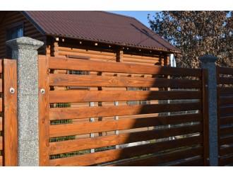 Европейские заборы - Сборный забор заполнение дерево