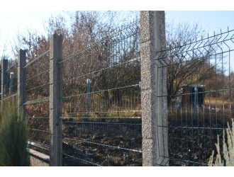 Европейские заборы - Сборный забор заполнение стальная 3д сетка